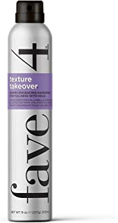 fave4 Texture Takeover Oomph Enhancing Hairspray for Texture and Hold - Sulfate Free | Paraben Free | Gluten Free |Cruelty...