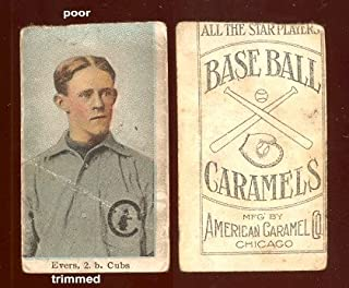 1910 American Caramel E90-3 (Baseball) Card# 7 Johnny Evers (trimmed) of the Chicago Cubs VG Condition