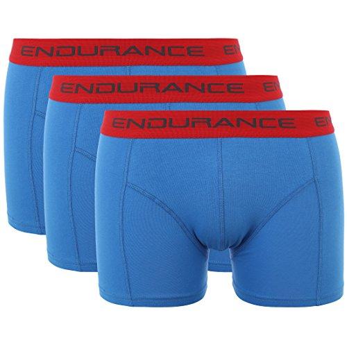 Ultrasport Endurance Herren Boxershorts Burke 3er-Pack, Frenchblue, XL