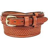 Men's English Bridle Basketweave Ranger Belt (Size 36', Medium Brown)