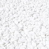 MGS SHOP Dekokies Dekosteine Streudeko Kies – Farbe wählbar (5 kg, Schneeweiß 15-25) - 2