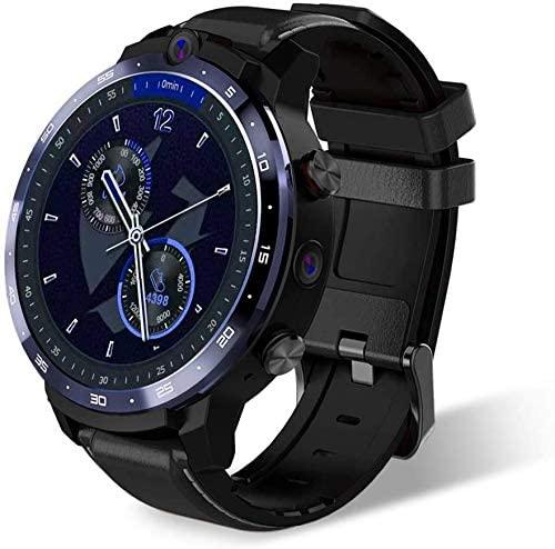XYG Reloj inteligente para hombres Mujeres IP67 Impermeable 500W 800W Cámara doble 4G SmartWatch GPS Reconocimiento facial 3GB 32GB 1.6 pulgadas Pantalla Smart Watch (azul)