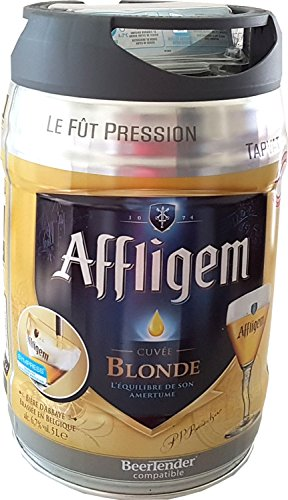 Affligem blonde barrel of 5 liters incl drum. Spout 6,8% vol.