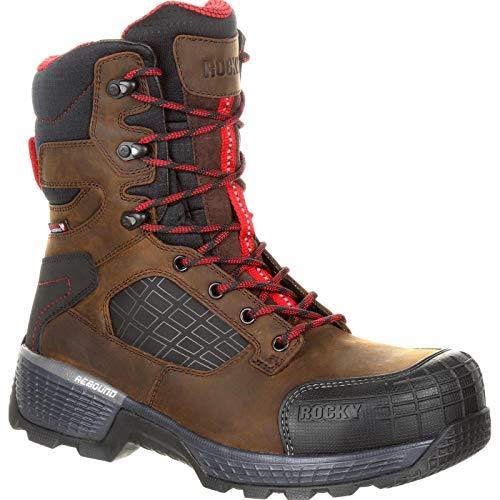 Rocky Treadflex Composite Toe Waterproof 8' Work Boot Dark Brown