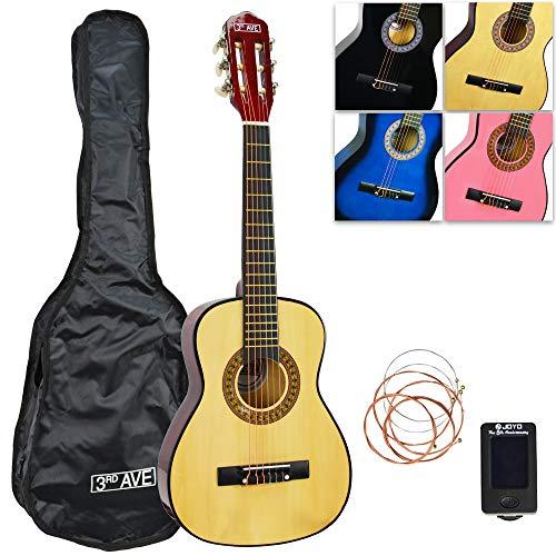 3rd Avenue Konzertgitarren-Set Junior in 1/2-Größe, in Natur, mit Tasche, Stimmgerät und Ersatzsaiten