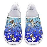 Showudesigns Sandalias de Vestir para Mujer Zapatos Enfermera Zapatillas Trabajo Zapato Sanitarias Mujers Enfermero Comodas Sneakers Correr Deportes, 37 EU Azul