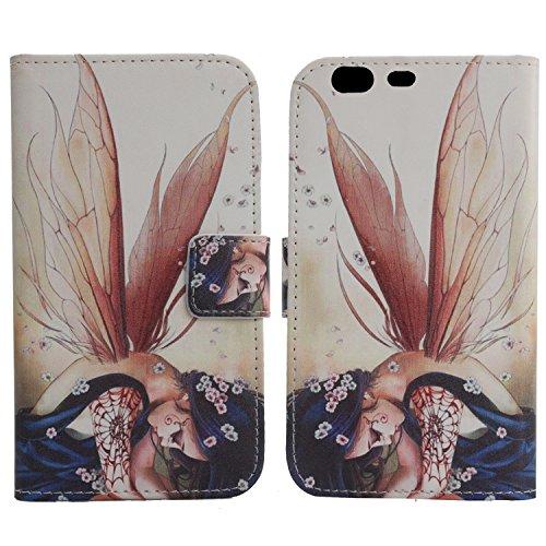 Lankashi PU Flip Leder Tasche Hülle Hülle Cover Schutz Handy Etui Skin Für Umidigi C2 5