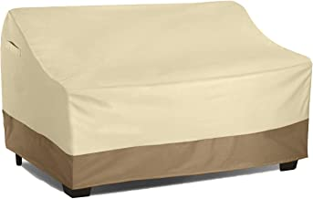 Vanteriam Waterproof Bench/Loveseat Cover, Large Outdoor Furniture Covers Waterproof Loveseat/Bench.