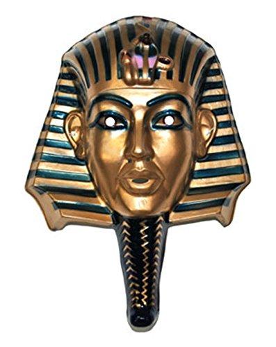 erdbeerclown - Pharaonen Maske Wanddeko Dekoration Ägypten Cleopatra Fasching bronze glänzend , Mehrfarbig