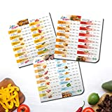 Air Fryer Magnetic Cheat Sheet Set, Air Fryer Accessories Cooking Times Chart, Airfryer Pressure Cooker Magnet Sheets Frying Quick Reference Guide (White)