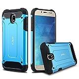 J&D Compatible pour Coque Galaxy J5 2017, [ArmorBox] [Double Couche] Coque de Protection Robuste Antichoc et Hybride pour Samsung Galaxy J5 (Release in 2017) - Bleu