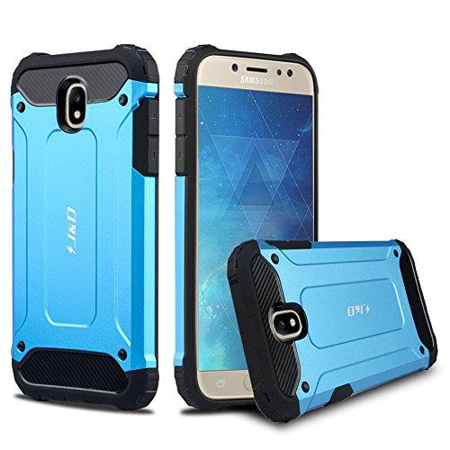J&D Compatibile per Cover Galaxy J5 2017, [Protezione Robusta] [Armatura Sottile] Ibrida Antiurta Protettiva aspra Custodia per Samsung Galaxy J5 (Release in 2017) - [Non per J5 2016] - Blu