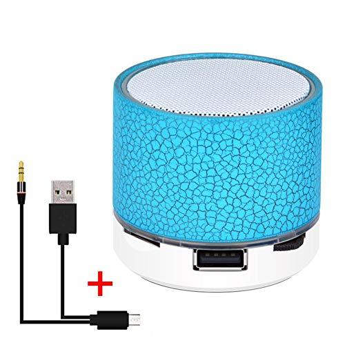 Oshide Inalámbrico Bluetooth Colorido Luz Pequeña Grieta Sonido Altavoz Audio Teléfono móvil Subwoofer Soporte Mini Tarjeta TF/Disco U/AUX