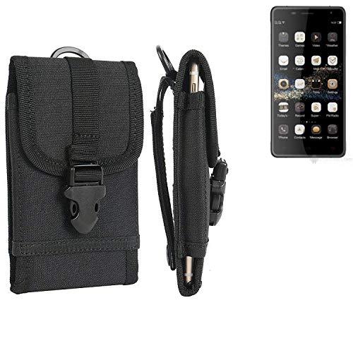 K-S-Trade® Handyhülle Für Oukitel K4000 Plus Gürteltasche Handytasche Gürtel Tasche Schutzhülle Robuste Handy Schutz Hülle Tasche Outdoor Schwarz