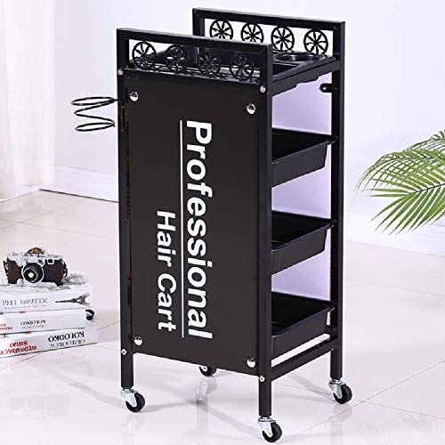 Salon Kappers Trolley Schoonheid Salon Trolley Gereedschap Winkel Barber Multi-Layer Tool Kar Trolley Rack Carts met 3 Laden