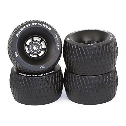 Slick Revolution Black Skate Wheels: 85A | 110mm Rough Terrain Longboard/Electric Skateboard Wheels...