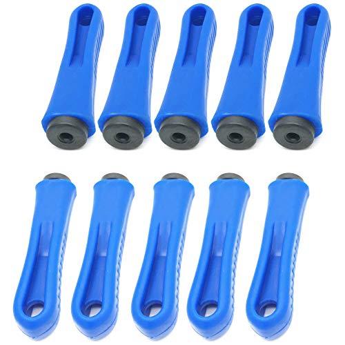 file handles XMHF Ergonomic Rubber File Handle 5mm Diameter Round Hole 90mm Length Anti-slip Plastic Handles Blue 5Pcs