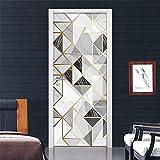 DFKJ Korridor Türaufkleber Moderne abstrakte Mode Tapete