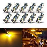 iBrightstar T10 168 194 - Bombillas LED para interior de coche, color ámbar