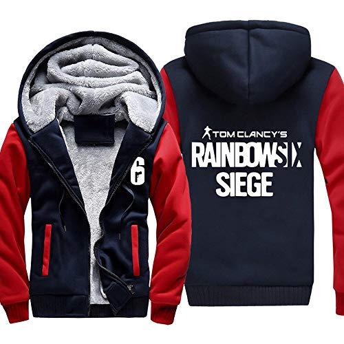 Herren Kapuzenpullover Spiel Rainbow SIX Siege Sweater Plus Dicke Samt Jacken Warme Tops Zipper Hoodies 1-L