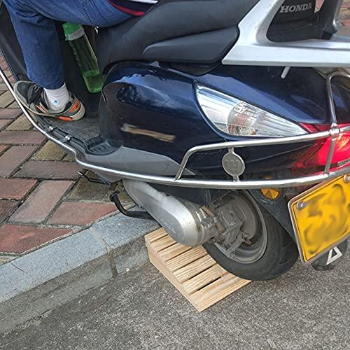 Rampa de Goma Rampas 2 Piezas Rampas de Entrada para Coches Bajos de 8cm/ 15cm de Altura, Madera Rampas de Umbral por Sillas de Ruedas Caminante Motocicleta Scooter (Size : 30.8x30x8cm)