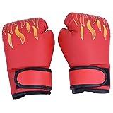 VGEBY Guantes de boxeo para niños, PU Muay Thai Sparring, guantes de entrenamiento de kickboxing para edades de 7 a 13 años (color: rojo)