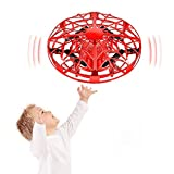 Nice-live 2021 Upgraded Mini Drones for Kids 4-14, UFO Drone Flying Toy Hand Controlled for Teens, Motion Sensor Hand Drone, Indoor Hand-Operated Hover Soccer Ball Toys Gift for Boys Girls (red1)