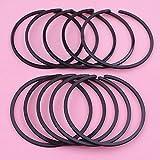 10 unids/lote 47mm Kit completo de anillos de pistón piezas de primera muesca para HUSQVARNA 455 Rancher 460 357XP 359362357 motosierra 503289050