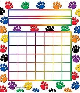 Teacher Created Resources Colorful Paw Prints Incentive Charts (4773)