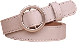 1Pc Circle Pin Buckles Belt Female Deduction Side Gold Buckle Jeans Simple Pu Wild Belts For Girls Women Students