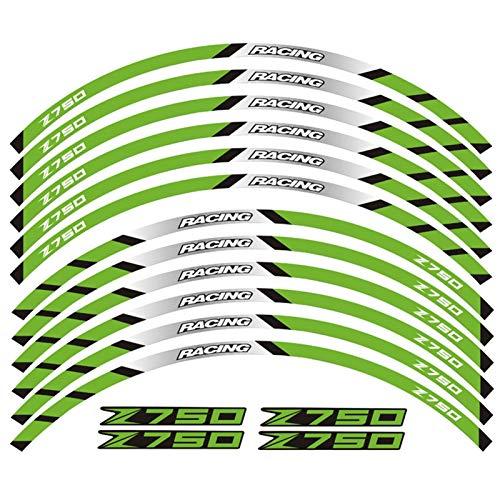 Motocicletas Reflectantes Etiqueta Etiquetas Motocicletas Pegatinas Rueda Reflectante Rim Moto Stripe Tape para Todos para Kawasaki Z750 (Color : 15)