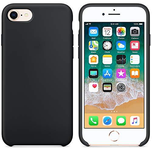 AW 2018 Estate Ultima Custodia in Silicone per iPhoneX (iPhone 7/8, Nero)