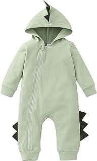 الوليد الرضع طفل الفتيان ديناصور سستة مكلفة رومبير بذلة ملابس الأطفال ملابس الأطفال (Color : Green, Kid Size : 0-3 Months)