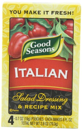 Good Seasons Italian All Natural Salad Dressing & Recipe Mix (16 Envelopes, 4 Packs of 4)