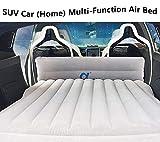 Lmzx Universal Auto Bett Luftmatratze Einzel Doppel-Luftbett SUV dick aufblasbar Bett Schlafkissen...