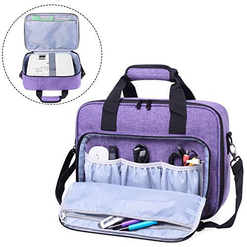 Luxja Beamer Tasche, Tragbar Projektor Tasche für Transport und Aufbewahrung Beamer (Kompatibel mit Epson, Acer, Optoma und andere Beamer), 34,3 cm x 25,4 cm x 10,8 cm, Lila