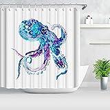 Bfrdollf Cortina de ducha multicolor con medusas coloridas artísticas...