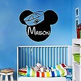 mlpnko Tatuajes de Pared Vinilo decoración de la habitación Nombre de la Personalidad Boy Kindergarten Dormitorio decoración Arte extraíble 63x76cm