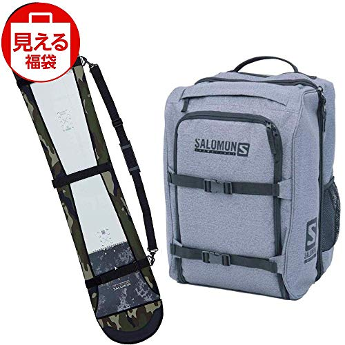 SALOMON(サロモン) スノーボードバッグセット ソールカバー カモ & ブーツバッグ グレー