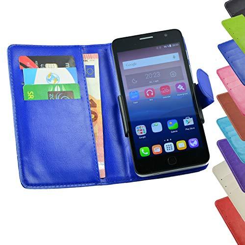 ikracase Tasche für TP-Link Neffos C5s Hülle Cover Hülle Etui Handy-Tasche Schutz-Hülle in Blau