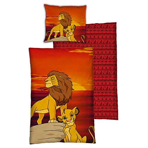 The Lion King Disney Bettbezug - 140 x 200 cm + 63 x 63 cm - Polyester