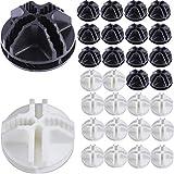 TANGGER 60PCS Conectores de Plástico para Estanterías Gabinetes de Almacenamiento Modulares DIY Estantería de Almacenamiento en Cubo,Blanco y Negro,3.7cm