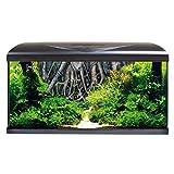 amtra system 80 led black sfondo 3d radice/acquario completo di illuminazione led, filtro e riscaldatore/cm 80x32x48 / 85 litri