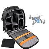 DURAGADGET Mochila para Drone Parrot Bebop + Funda Impermeable - con Compartimentos Internos