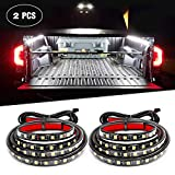 Nilight 2PCS 60'' 180 LEDs Bed Strip Kit with Waterproof On/Off Switch Blade Fuse 2-Way Splitter Extension Cable for Cargo, Pickup Truck, SUV, RV, Boat, 2 Years Warranty