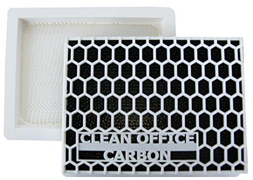 2x Ozon- u. Feinstaubfilter für Laserdrucker - 150x120mm - mit Aktivkohle