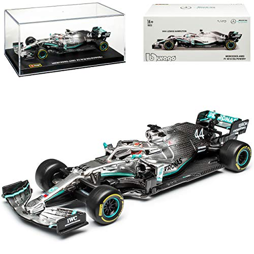 Bburago Race 18-38036 Mercedes AMG Petronas F1 W10 EQ Power Campeonato Mundial Lewis Hamilton Nr 44 Fórmula 1 2019 1/43...