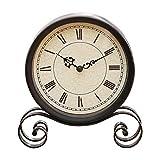 S.W.H Orologio Rurale in Metallo Decorazione della Casa Ornamenti retrò Orologio da Tavolo Orologio Muto Camino Europeo