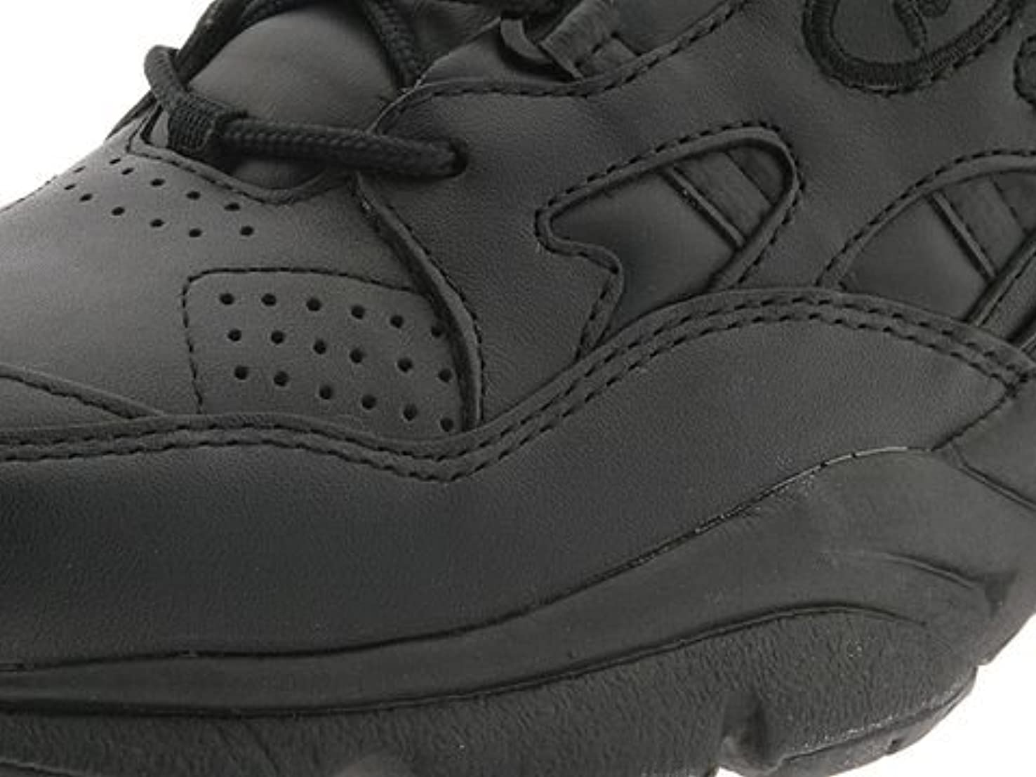 顕微鏡レギュラー野ウサギ[プロペット] レディースウォーキングシューズ?カジュアルスニーカー?靴 Stability Walker Medicare/HCPCS Code = A5500 Diabetic Shoe Black Leather 6.5 23.5cm M (B) [並行輸入品]