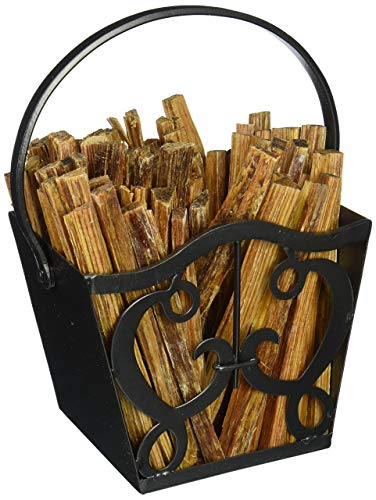 Fantastic Deal! Minuteman International Cypher fatwood Holder Basket Caddy, Graphite (Renewed)
